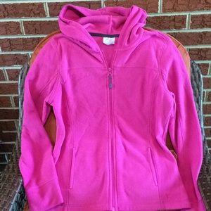 Danskin fleece full zipper hoodie jacket